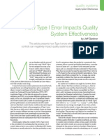 errors and the quality problems