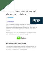 TUTORIAL Tirar Audio Musica Playback