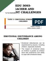 Edu 3093 Topic 3 Emotional Disturbances Among Children