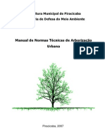 Manual de Normas Técnicas de Arborização Urbana - Piracicaba