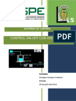 Informe Control on OFF