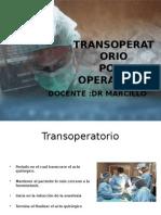 Transoperatorio- Post Operatorio Cristobal
