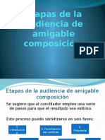 Etapas de La Audiencia de Amigable Composición