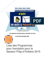 laiu-haiti liste des programmes pour inscription sept 2015 pour website