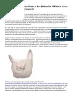 La UE Legislará Para Reducir Las Bolsas De Plástico Hasta 40 Unidades Por Persona En