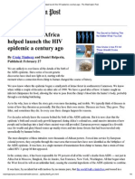 Colonialism in Africa Helped Launch the HIV Epidemic a Century Ago - The Washington Post