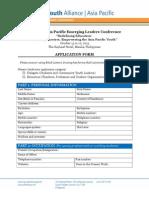 4th WYAAP ELC Application Form