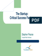 MIT - The Startup - Criticial Success Factors