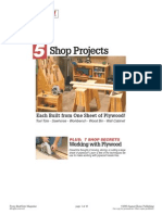 eBooks Woodworking Plans - Five Plywood Projects