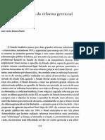 Os Primeiros Passos Da Reforma Gerencial Do Estado de 1995 (Bresser Pereira)
