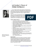 howard gardner theory multiple intelligences