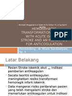 Hemorrhagic Transformation Patients With Acute Ischemic Stroke And