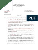 Example of Complaint (Islamjur)