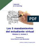Los 5 Mandamientos Del Estudiante Virtual_Carlos Lopez Mendizabal