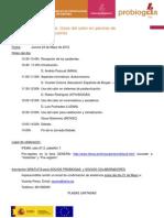 Programa Jornada Debate 9 CALOR Madrid 24mayo2012