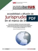 Accesibilidad y Difusión de Jurisprudencia en El Marco de Internet