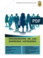Organizacion de Las Empresas Hoteleras