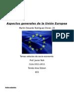 La Unión Europea (aspectos generales)