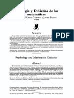 Psicologia Y Didactica De Las Matematicas