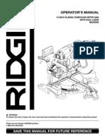 Ridgid MS255SR Miter Saw Manual