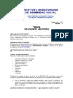 TramiteAfiliacionVoluntaria Iess_ 2009-05