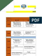 Horarios Ingenieria de Sistemas 2015-1 II Módulo Domingo 16 de Agosto