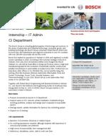 Bosch CI_ CI Admin Intern_Job Ad