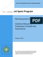 2015 02 01 California Office of Environmental Health Hazard Assessment Air Toxics Hot Spots Program Guidance Manual for the Preparation of Risk Assessments
