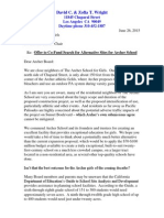 2015-06-26 Offer to Co-Fund Search for Alternative Sites for Archer School
