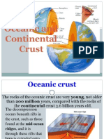 Oceanic and Continental Crust