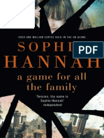 A Game for all the Family by Sophie Hannah - excerpt