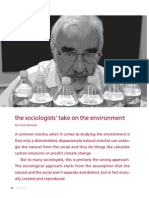 The Sociologist's Take on the Environment
