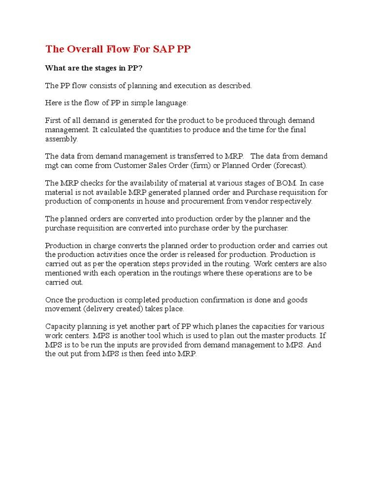 SAP PP More Questions | Demand | Stocks