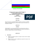 Swapo Party Constitution