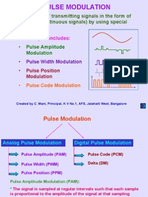 3 Pulse Modulation ppt | Modulation | Digital Signal