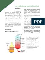 Bio diesel vs Renewable