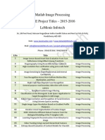 Matlab Projects 2015-2016 | Matlab IEEE Project Titles 2015-2016