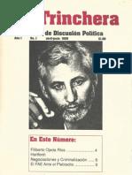 Trinchera Revista de Discusion Politica Vol.1, No.1 abril - junio 1989