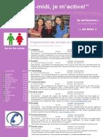 Dépliant Publicitaire Activités Mercredis PM Bloc 1 2e Et 3e Cycle 2015 2016