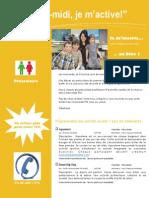 Dépliant Publicitaire Activités Mercredis PM Bloc 1 Préscolaire 2015 2016
