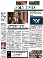Newspaper front page design
