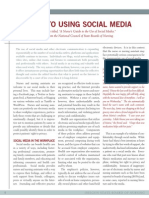 A Guide to Using Social Media