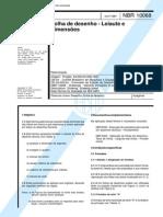 NBR 10068-Folha de Desenho - Leiaute e Dimensoes