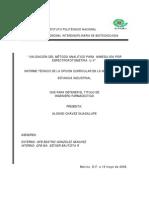 Validacion Del Metodo Analítico Para Nimesulida Por UV-Vis