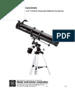Manual Telescopio Polaris 114 EQ-D Es