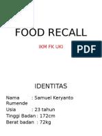 Food Recall Samuel