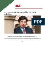 Columna de Daniel Coronell, peridista colombiano de la revista semana
