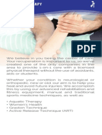 Joint Ventures Physical Therapy Brochure