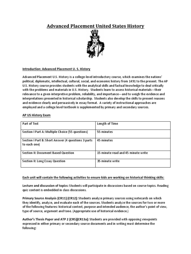 apush semester 1 expository essay