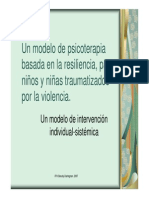 Bases Para Psicoterapia de Nino Traumatizado (Maryorie Dantagnan)
